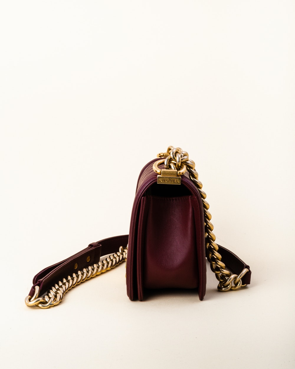 HCC12 Small Quilted Calfskin Boy Bag